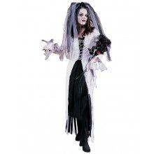 Zombie Bruid Halloween Vrouw Kostuum