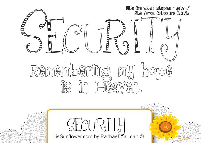 Character quality security remembering my hope is in for Character counts coloring pages free