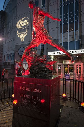 Jordan's statue outside the United Center in Chicago