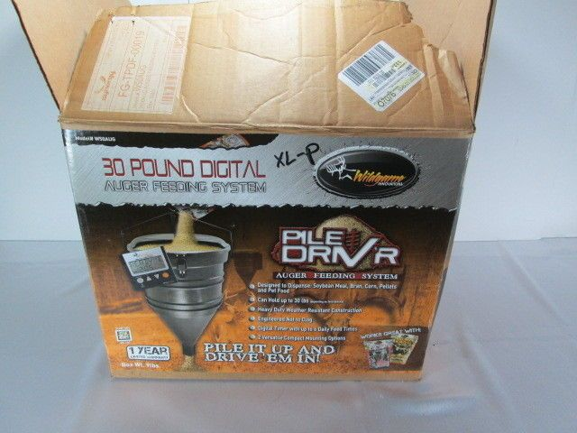 Wild Game Innovations Pile Driver Driv'r Hanging Deer Game Feeder 30lb Auger New #WildgameInnovations