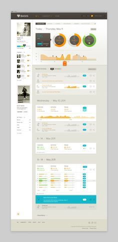 Fitness data dashboard by Basis