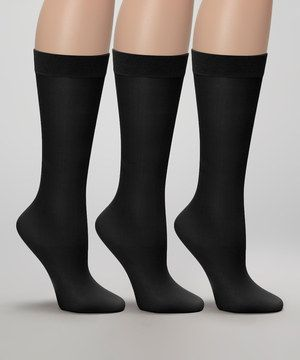Loving this Angel Hosiery Black Opaque Maternity Socks Set on #zulily! #zulilyfinds