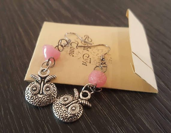 Hey, I found this really awesome Etsy listing at https://www.etsy.com/listing/586531375/owl-earrings-silver-colored-metal-bird