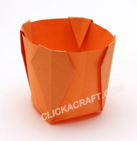 Plegables Origami Florero INSTRUCCIONES - Como hacer sin Florero de Origami de Papel.