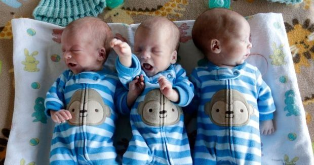Mother Gives Birth To Rare Identical Triplets 1 In A