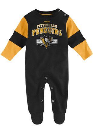 Pitt Penguins Baby Black Team Believer Creeper