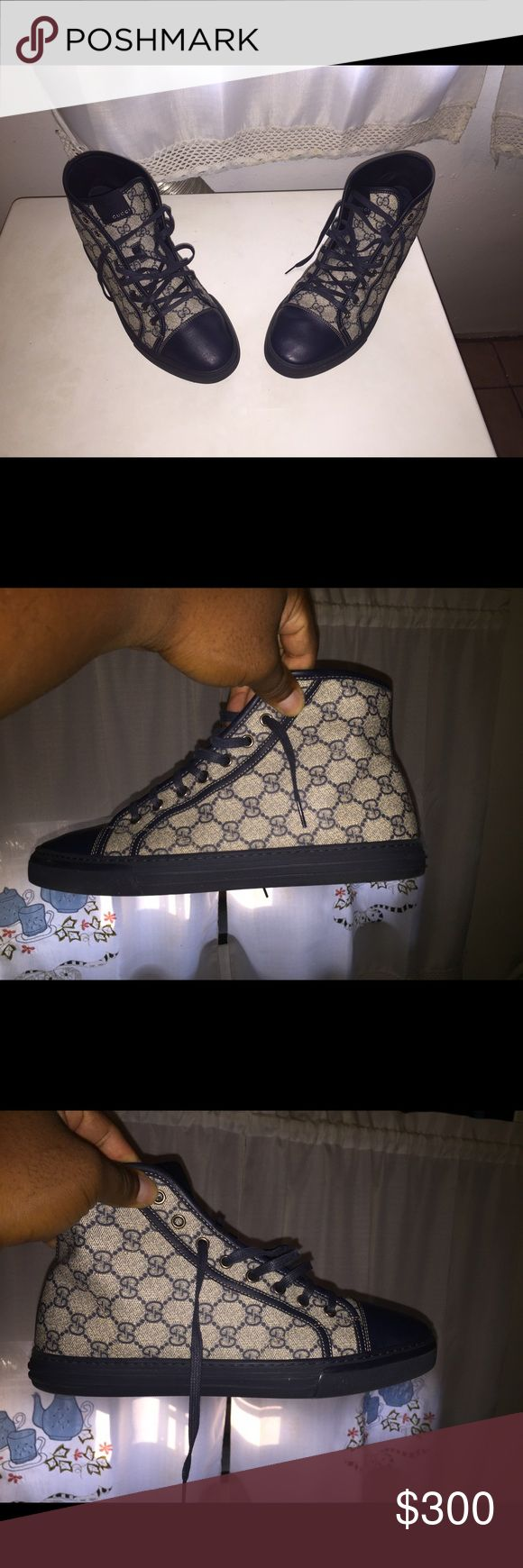 Gucci sneakers I have a pair of Gucci sneaker with the original box and extra laces only worn three time lightly Shoes Sneakers