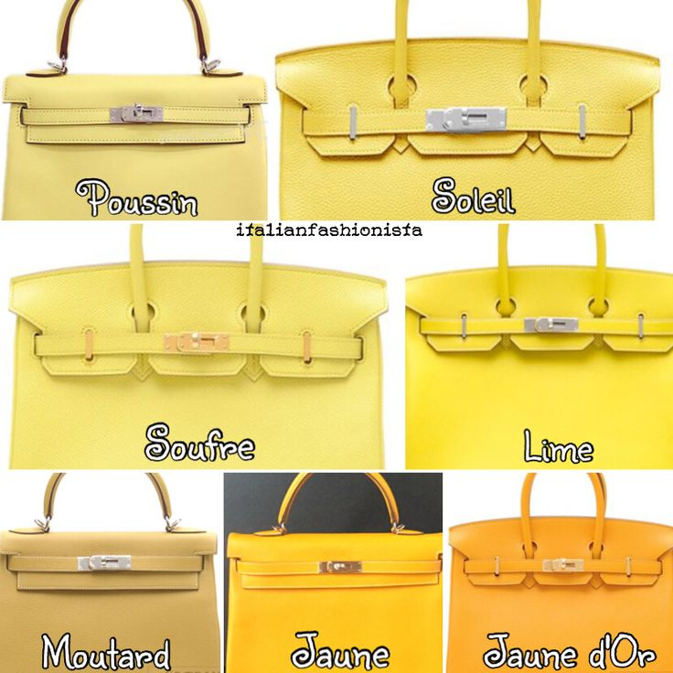 hermes bag colour chart