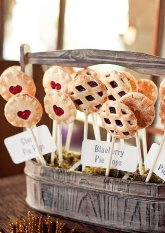 Pie pops! This is also a cute idea for a summer BBQ baby shower!