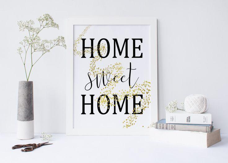Home Sweet Home Print Printable Art Printable Quote Home Decor Prints And
