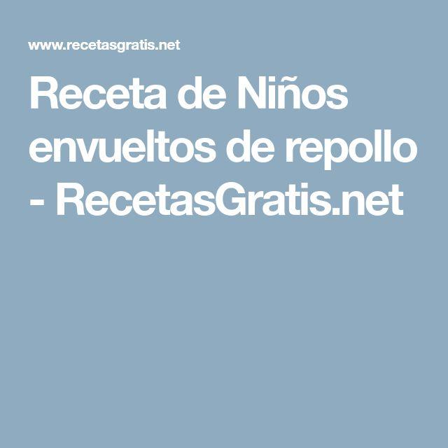 Receta de Niños envueltos de repollo - RecetasGratis.net