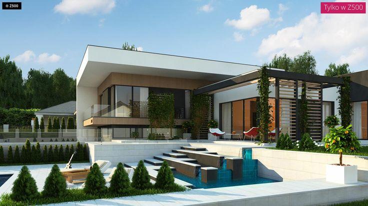Zx151 stanowi propozycję nowoczesnego domu z płaskim dachem, dużymi przeszkleniami, częściowym podpiwniczeniem i półpiętrami. Jego powierzchnia użytkowa wynosi ok.
