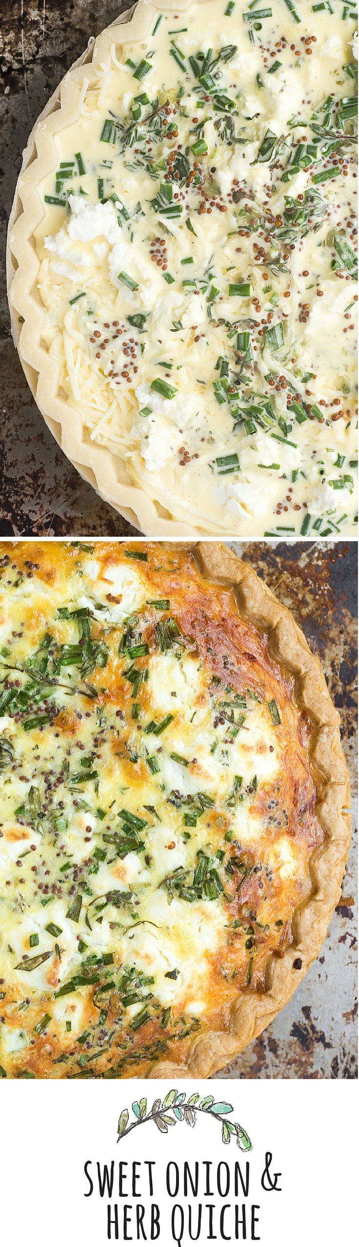 Sweet Onion and Herb Quiche might just be the perfect recipe — easy to prep, it goes from breakfast to brunch, to lunch, to dinner without blinking an eye.  Hot, cold, room temp, or reheated, it's always delicious…food doesn't get any more accommodating. theviewfromgreatisland.com