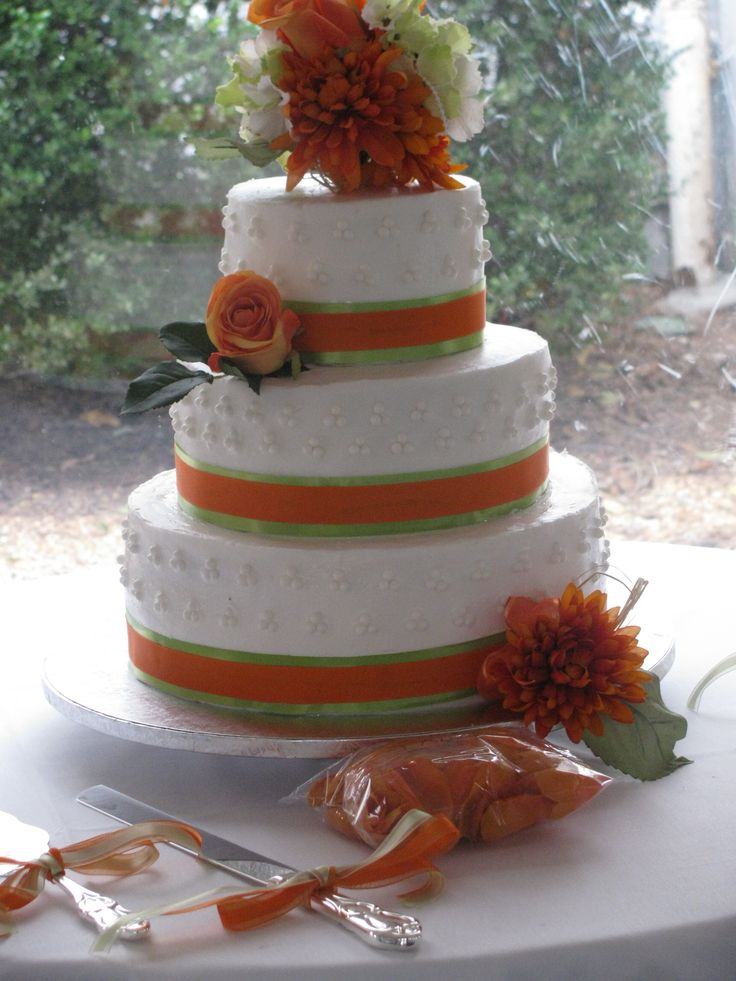 pictures of orange and green wedding cakes 17 best images about orange and green wedding on 18416