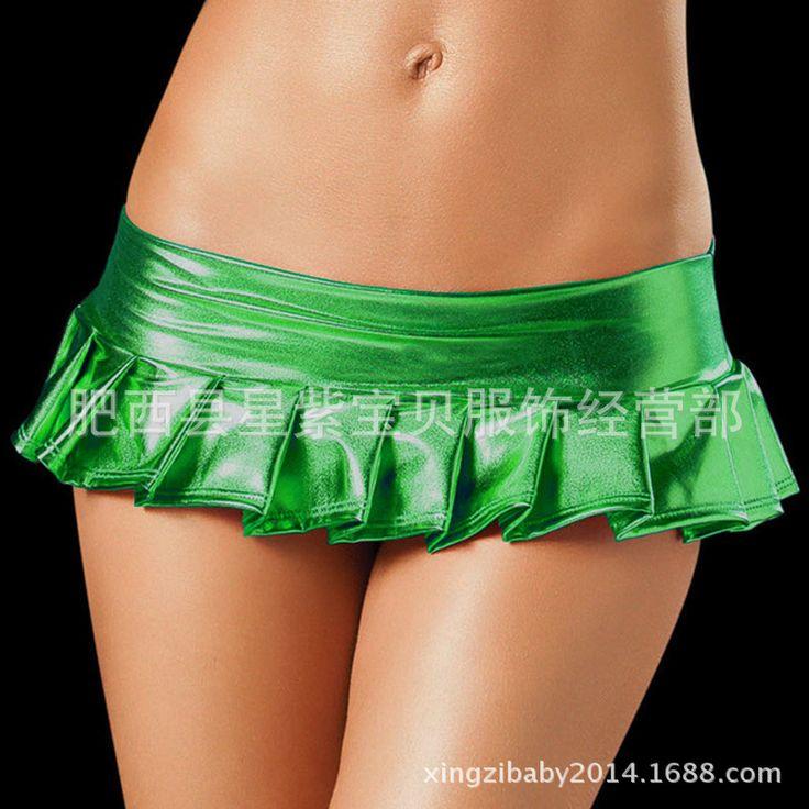 2017 Women Hot Sexy Latex Skirts Suit Pole Dance Clubwear Patent Leather Micro Mini Skirts Set Nightclub Pencil Package - MISS LADIES