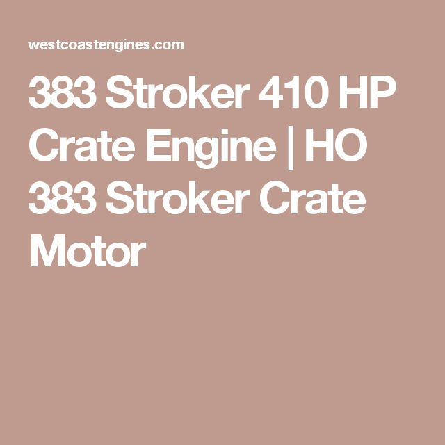 25 best 383 Stroker images on Pinterest Engine, Chevy and Motor engine - best of jegs blueprint crate engines