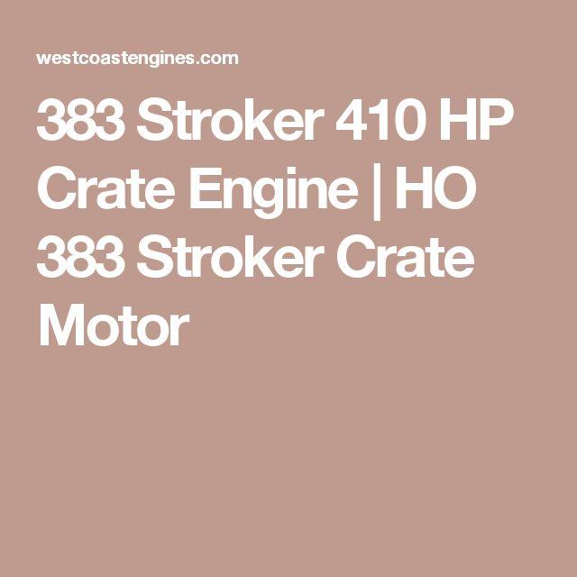 383 Stroker 410 HP Crate Engine | HO 383 Stroker Crate Motor
