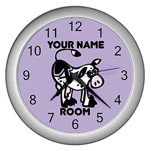 Purple Personalized Cow Wall Clock CustomMade http://www.amazon.com/dp/B0114NTTGM/ref=cm_sw_r_pi_dp_Y6t1vb1JWMR8T