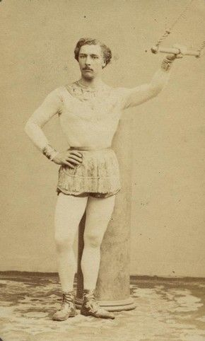 Jules Léotard invented the flying trapeze act, still considered an essential part of any circus repertoire. His other great legacy is the item of clothing named after him: the leotard. The original leotard was an all-in-one knitted suit. It allowed freedom of movement, was relatively aerodynamic and there was no danger of a flapping garment becoming entangled with the ropes.