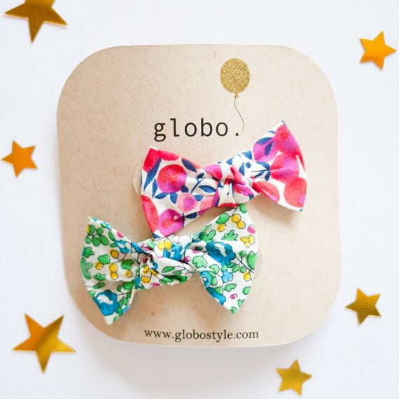 Mini Liberty of London Hair Clips for Baby and Little by globoMINI, $10.00