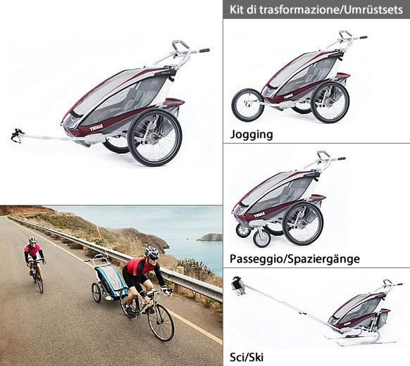 Carrozzina multifunzionale Thule Chariot CX 2 http://www.altoadige-shopping.it/info.php?cat=23&scat=270&prd=3487&id=10271