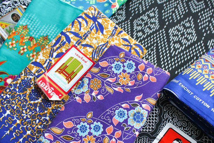 Tissus de Thailande - Batik thailande - Bangkok