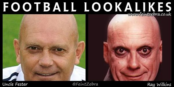 Football Lookalikes – Ray Wilkins and Uncle Fester