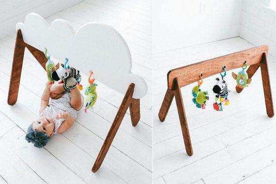 Baby Wolke Gym Activity Center Holz-Spielzeug von HaddonCo