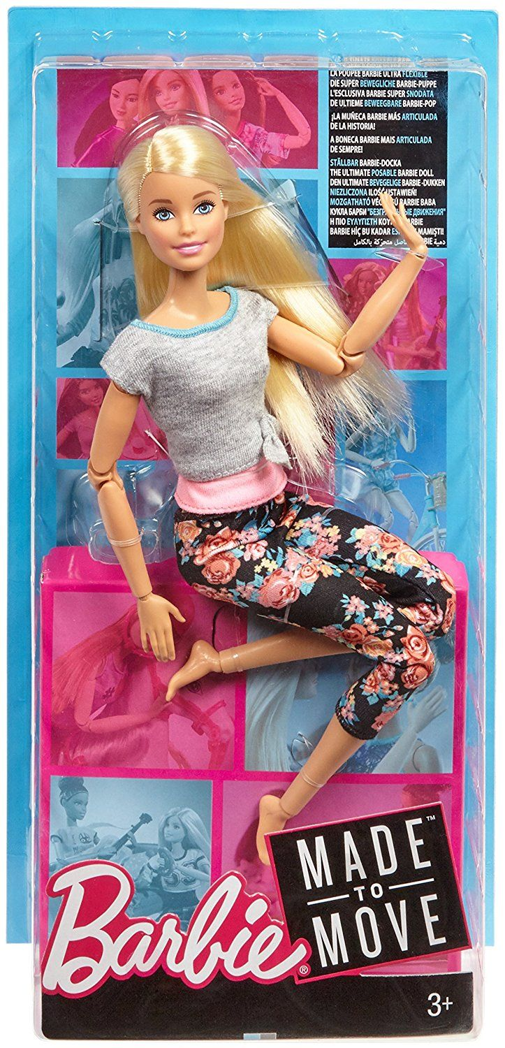 Multicolor 22 inches Barbie Made to Move Dolls with 22 Joints and Yoga Clothes