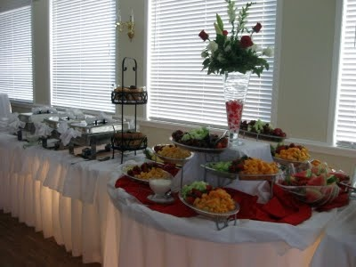 reception food buffet table - Google Search