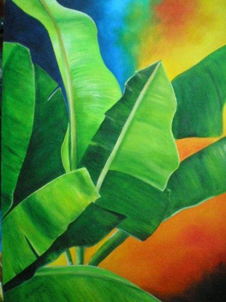 pintura hojas de platano - Buscar con Google