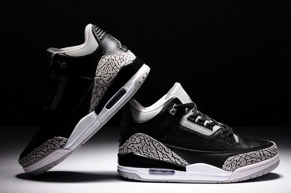Air Jordan 3 Man Black and Grey AAA