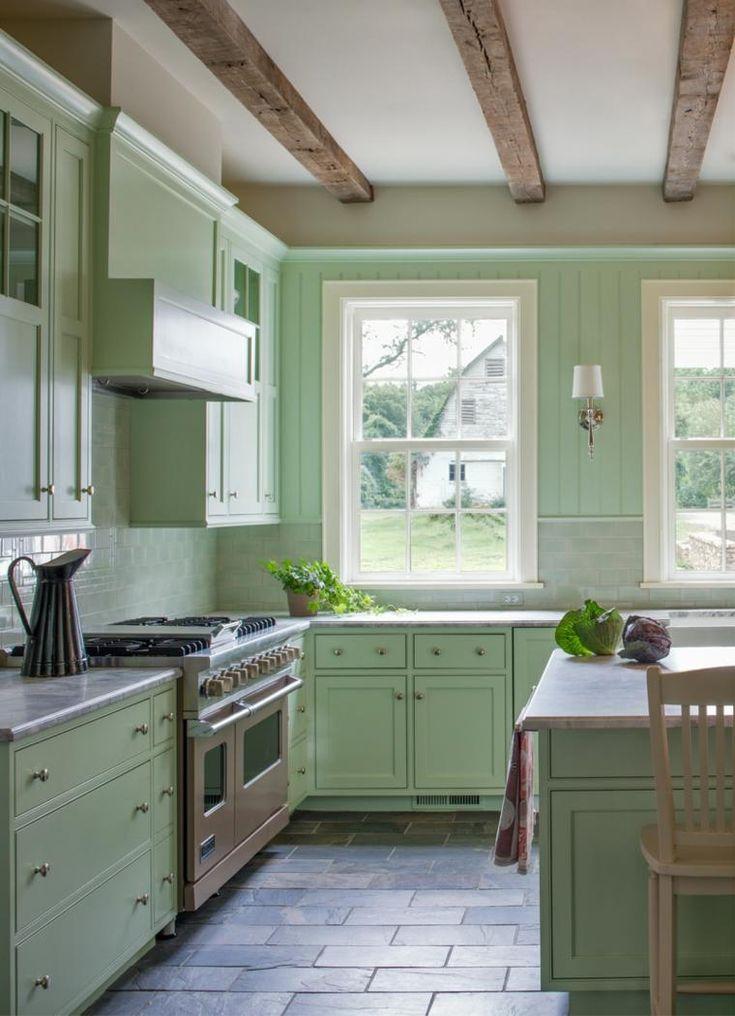 Küchenfarbe in 50 modernen und inspirierenden Ideen #flur #magnolie #badezimmer…
