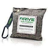 DRIVE Natural Car Air Freshener (Gray)  Best Auto Purifier is Certified Moso Bamboo Activated Charcoal 200g  Unscented Deodorizer Drying Bag Removes Allergens & Moisture  Prevents Bacteria Mildew