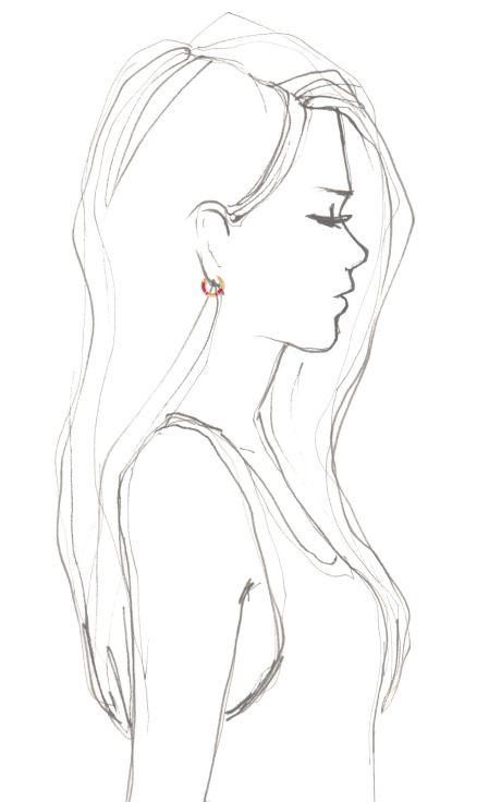 Positano Hoop Earring With Coral Resin by Aurélie Bidermann for Preorder on Moda Operandi