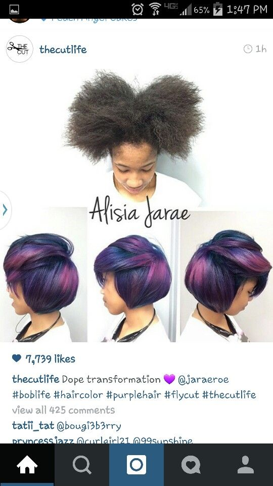 387 Best Coloured Relaxed Natural Hair Board Images On Pinterest