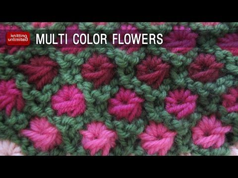 This video knitting tutorial will help you learn how to knit the Multi-color Aster Flowers. + Written instructions: http://knittingunlimited.blogspot.com/201...