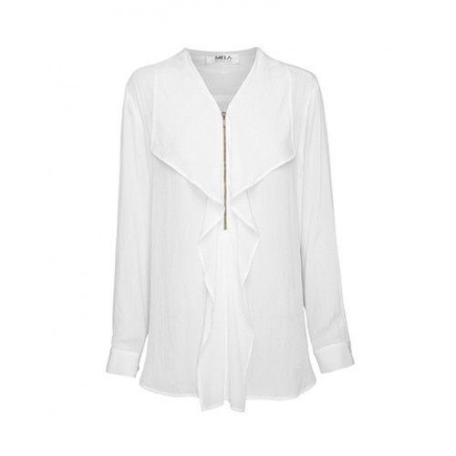 Mela Purdie Zip Fold Front Shirt - Mousseline