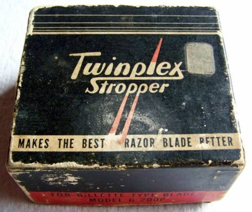 Twinplex Stropper Razor Blade Sharpener for Gillette Type Model G 200p Vintage | eBay