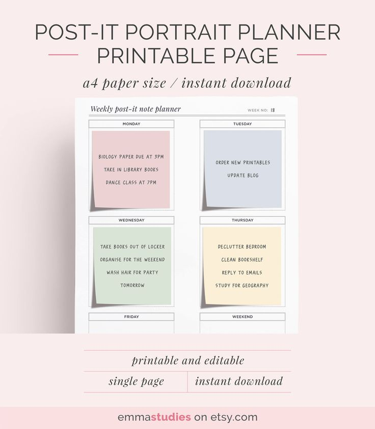 The  Best Weekly Planner Printable Ideas On   Weekly