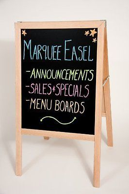 Message Boards and Holders 41510: New Folding Two-Sided Marquee Wood Easel - Whiteboard And Black Dry Erase Board -> BUY IT NOW ONLY: $77.99 on eBay!
