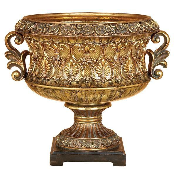Bronze and Gold Brown OK Lighting Curvae Decorative Vase