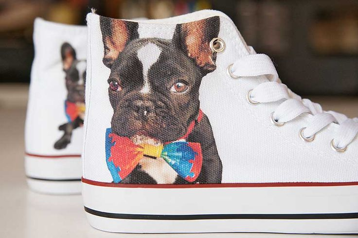 BULLDOG ANTEK. THE DOG. DESIGN YOUR OWN PRINT ON SNEAKERS AT WANNASHOE.COM