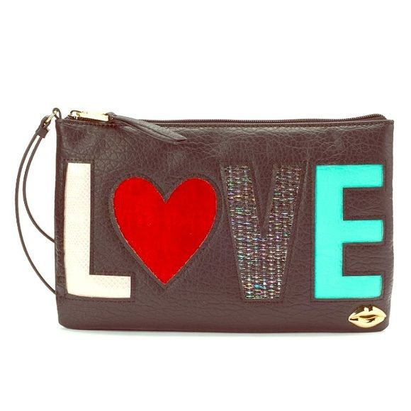 VIDA Leather Statement Clutch - I-CAN D/LOL-E POP by VIDA