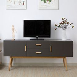 Online Shop Modern minimalist dark wood coffee table, TV cabinet white section of the Nordic creative living room TV cabinet IKEA furniture|Aliexpress Mobile