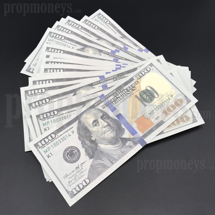 50x $100 Dollar Bills - $5,000 Dollars - New Style Prop Money