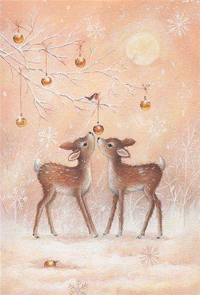 Милые новогодние иллюстрации :)