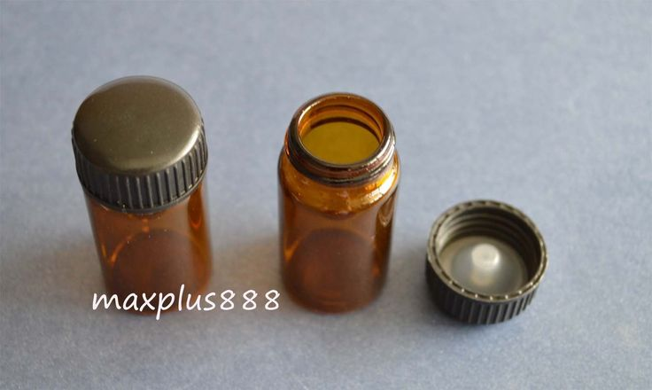 10Pcs Empty Sample Vials Brown Glass Bottles 20Ml With Black Plastic Cap