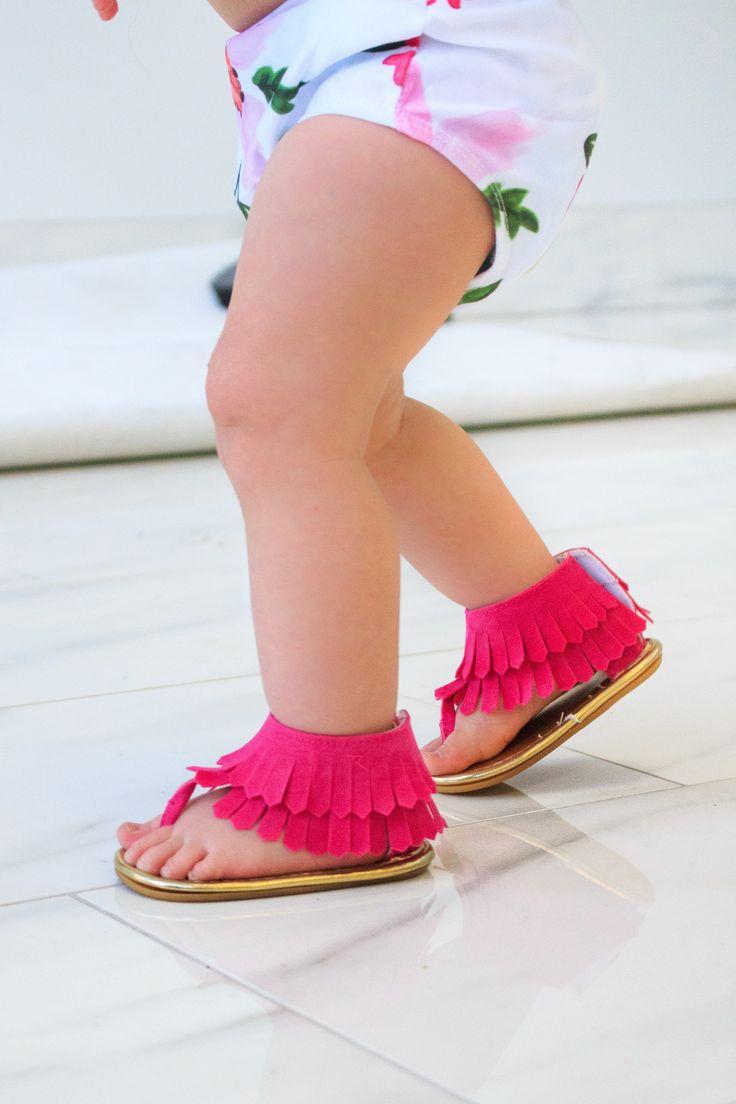 Fringe Crib Sandals - MANY COLORS!!