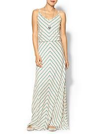 Hive & Honey Chevron Stripe Knit Maxi Dress